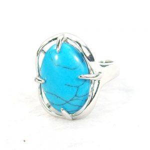 Turquoise Gemstone Cabochon Ring