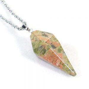 Unakite Jasper Pendulum Necklace