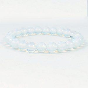 White Opalite Beaded Bracelet