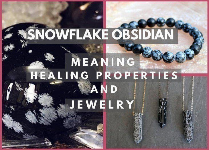 snowflake obsidian meaning healing and properties
