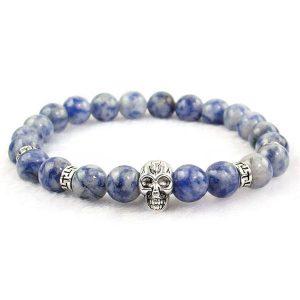 Sodalite Skull Bracelet