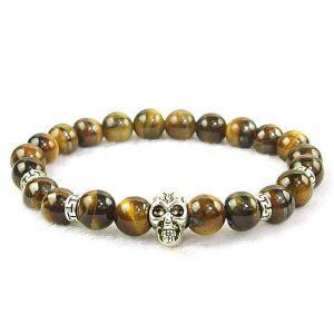 Tiger Eye Skull Bracelet