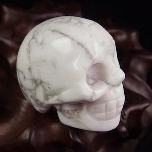 White Turquoise Crystal Skull