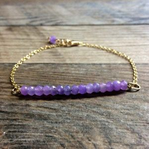 Alexandrite bracelet - minimalist bracelet - dainty bracelet - 14k gold filled - June birthstone