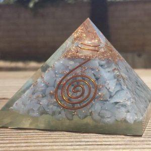 Angelite Orgone Pyramid X-Large