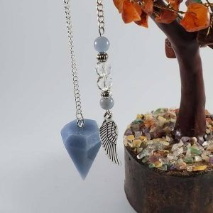 Angelite Pendulum-Healing, Dowsing, Energy Balancing