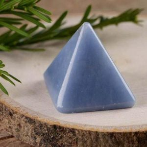 Angelite Raw Pyramid Carving - 1.1 Inch