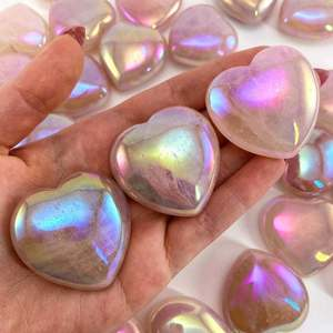 Aura Rose Quartz Heart, rose quartz heart, angel aura quartz heart