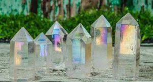 Clear Aura Quartz Crystal Tower,Angel Aura Quartz Point,Angel Aura Spirit Quartz Crystals Point,Throat Chakra,Titanium Aura Quartz Crystal