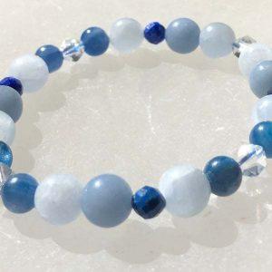 Inner Guidance Bracelet, Intuition bracelet, Celestite bracelet, kyanite bracelet, Lapis Lazuli bracelet, Angelite bracelet, Reiki