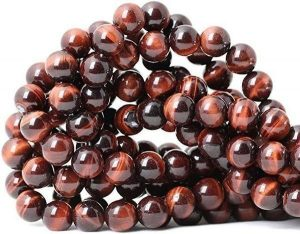 Natural Red Tiger's Eye Gemstone Round Loose Beads for Jewelry Making DIY