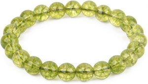 Peridot Gemstone Healing Chakra Bracelet For Anxiety Stress Relief