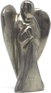 Pyrite Hand-Carved Natural Gemstone Crystal Healing Angel