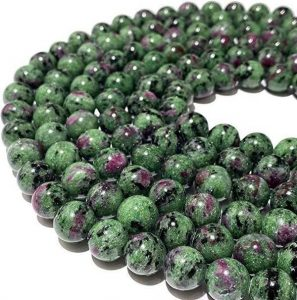 Tanzania Dark Ruby in Zoisite AKA Anyolite Gemstone Beads For Jewelry Making