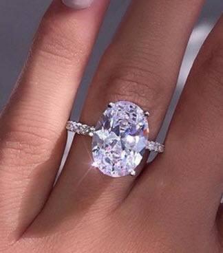 morganite substitute white sapphire engagement ring