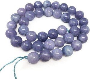 Natural Opaque Tanzanite Quartz Gemstone Beads for Jewelry Craft Making