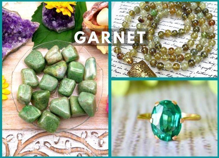 green garnet meanings benefits