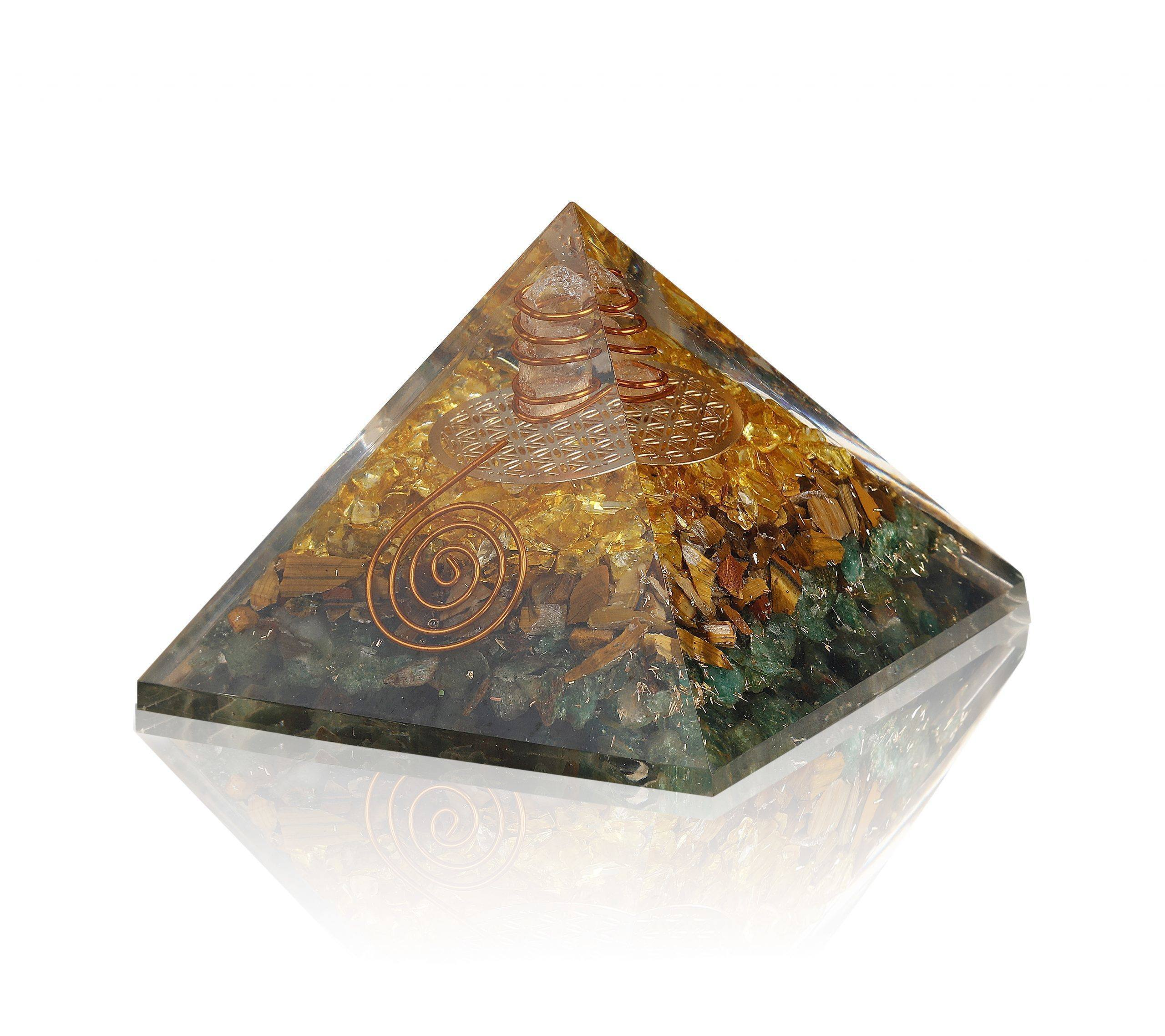 attract_abundance_orgone_pyramid_green_aventurine_tiger_eye_citrine